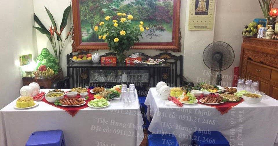 Dịch vụ nấu cỗ tại nhà ở hoàng quốc việt - tiệc nhà chị Huy Anh