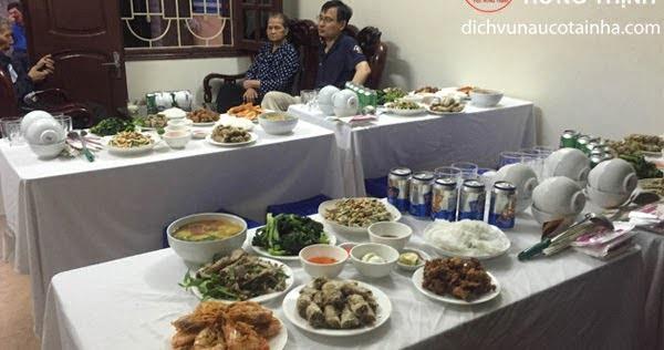 Dịch vụ nấu cỗ tại nhà ở Quan Hoa
