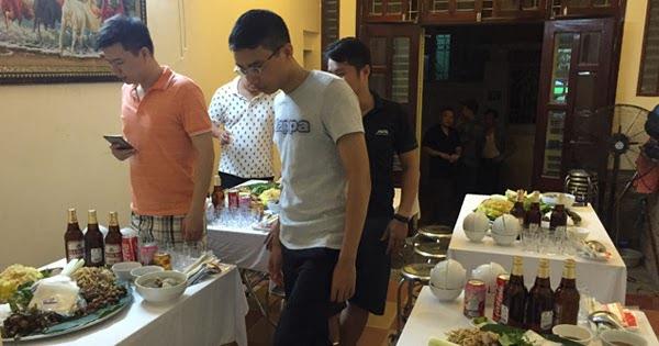 Nấu cỗ lợn mán tại nhà khách ở Long Biên 6 mâm