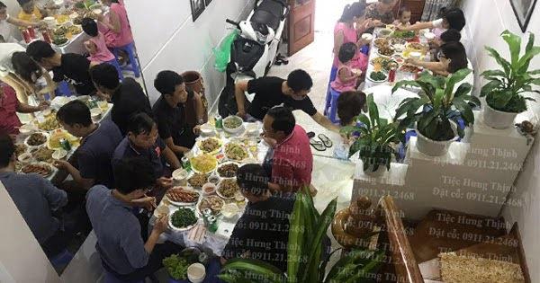 Nấu cỗ giỗ tại nhà ở Vũ Tông Phan 8 mâm