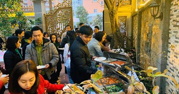 Nấu Cỗ ở Cầu Giấy 100 Suất Tiệc Buffet Nhà Chị Tâm