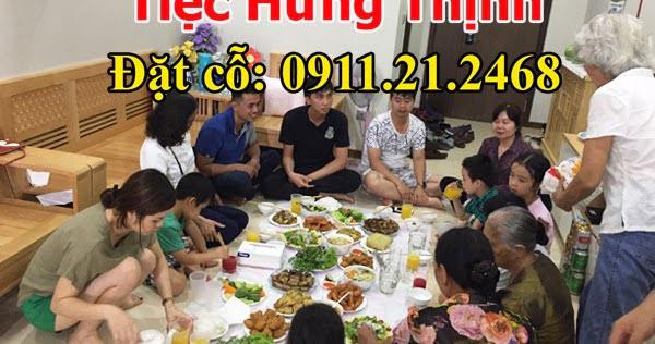 Nấu cỗ sinh nhật tại nhà ở Nghĩa Đô 3 mâm chung cư Tràng An