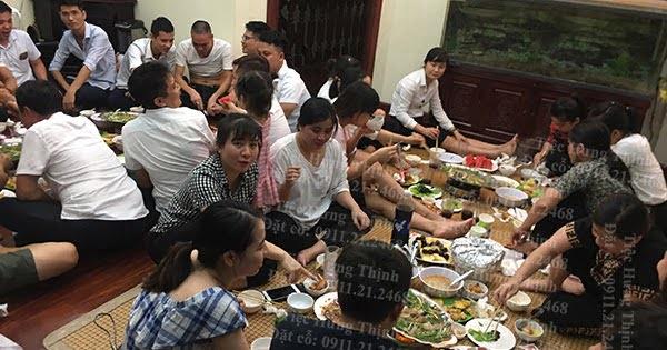 Nấu Cỗ Tại Nhà ở Lĩnh Nam Tiệc Tân Gia nhà chị Quyên 4 Mâm