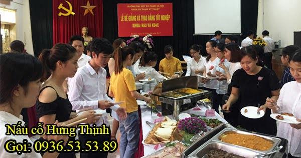 Tiệc buffet tại trường Đại học Sư Phạm Hà Nội 80 khách