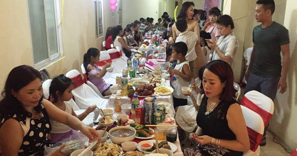 Tiệc sinh nhật 12 mâm tại chung cư Học Viện Quốc Phòng