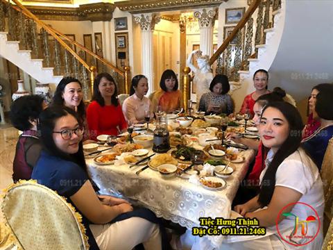 Nấu Cỗ Tân Gia 5 Mâm nhà chị Lan ở Việt Hưng Long Biên