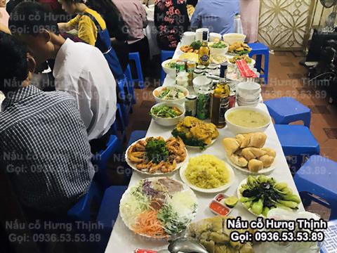 Nấu Cỗ ở Nam Trung Yên Cầu Giấy 10 Mâm Ăn Hỏi
