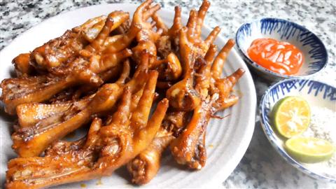 Công thức nướng chân gà ngũ vị thơm ngon